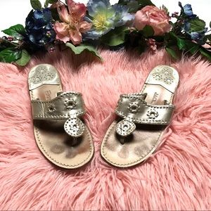 Jack Rogers Hamptons Classic Sandals in Platinum